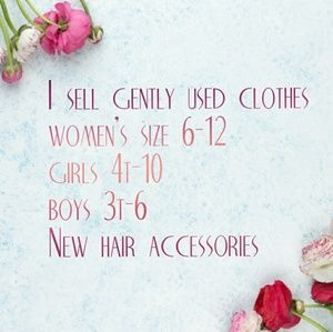 Other - Women's, girls, boys clothes and hair accessories